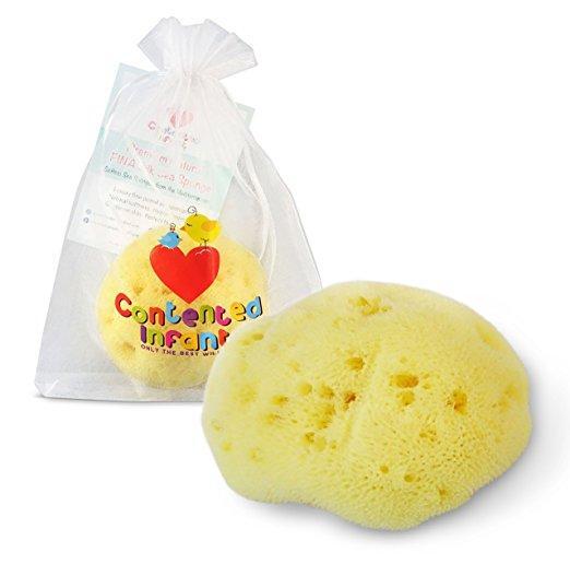 Contented Infant's Premium Natural Fina Silk Sea Sponge For Baby & Newborn