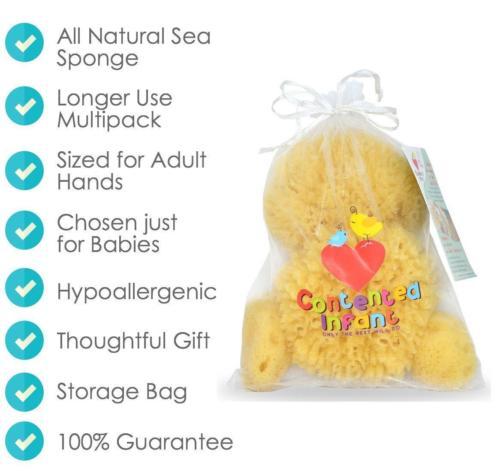 Contented Infant Natural Sponge- 4pk 8